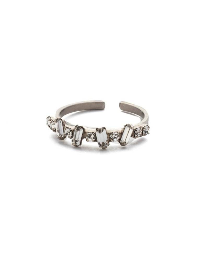 Sorrelli Antique Silver Tanner Band Ring