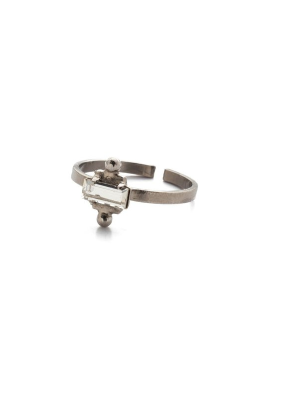 Sorrelli Antique Silver Jensen Band Ring