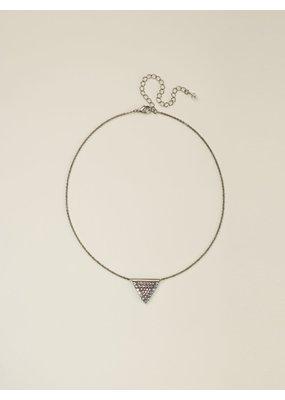 Sorrelli Crystal Encrusted Triangle Pendant Necklace