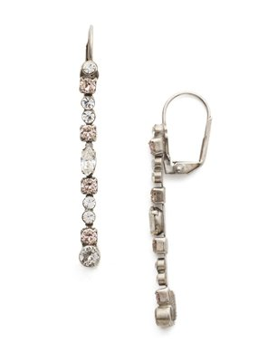 Sorrelli Crystal Line Style Earrings Snow Bunny