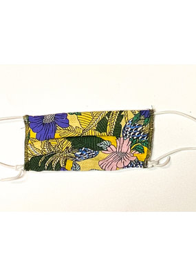 Lost + Wander Yellow Floral Adjustable Kids Face Mask