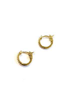 iiShii Designs Sterling Gold CZ Huggies