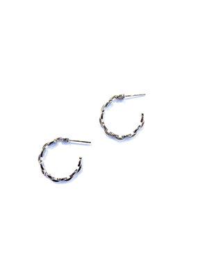 iiShii Designs Sterling Silver Link Hoops