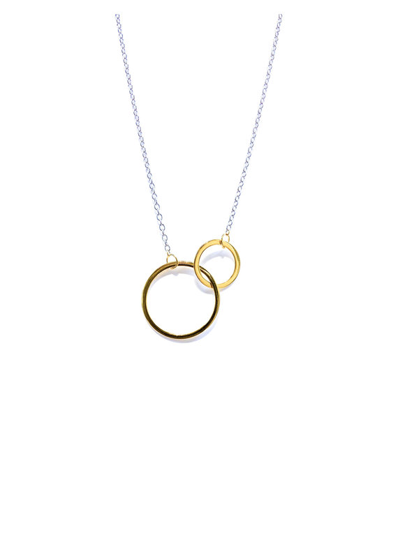 iiShii Designs Sterling Two Tone Eternity Circle Necklace