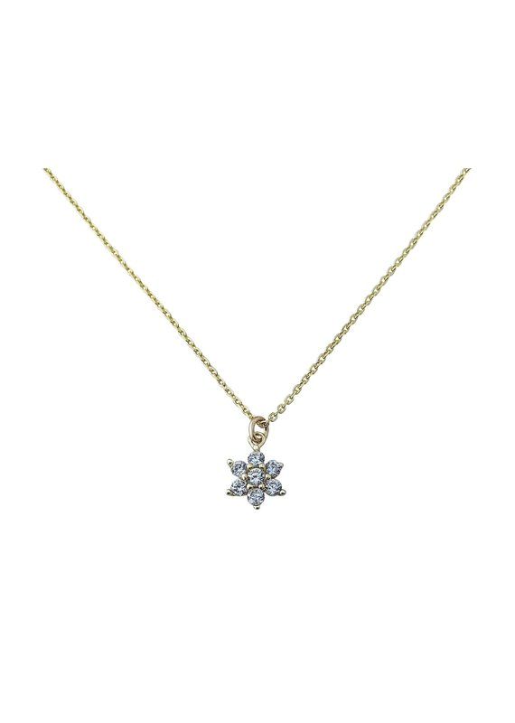 Modern Opus Sterling Gold Plated Flower Necklace