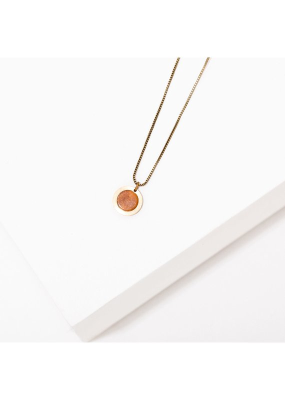 Larissa Loden Brene Necklace Sunstone
