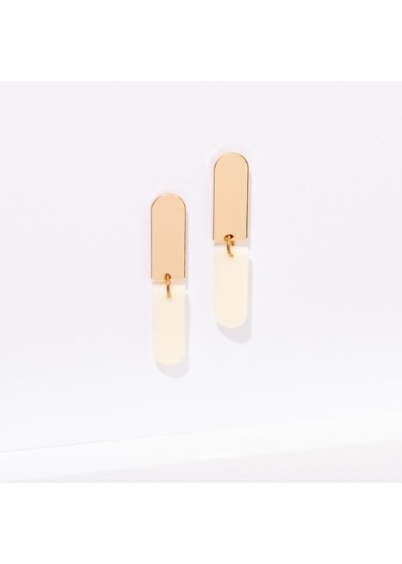 Larissa Loden Ali Earrings in Color White