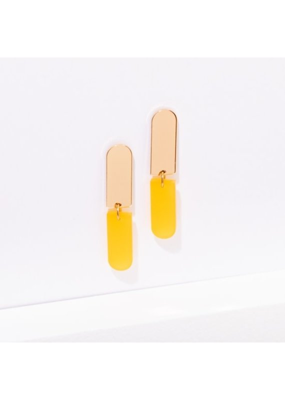Larissa Loden Ali Earrings in Color Yellow