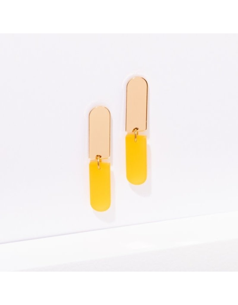Larissa Loden Ali Earrings in Color Yellow