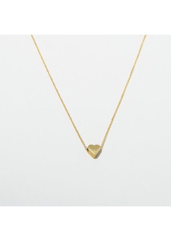 Larissa Loden 24K Gold Plated Heart Necklace