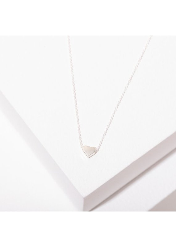 Larissa Loden Rhodium Plated Heart Necklace