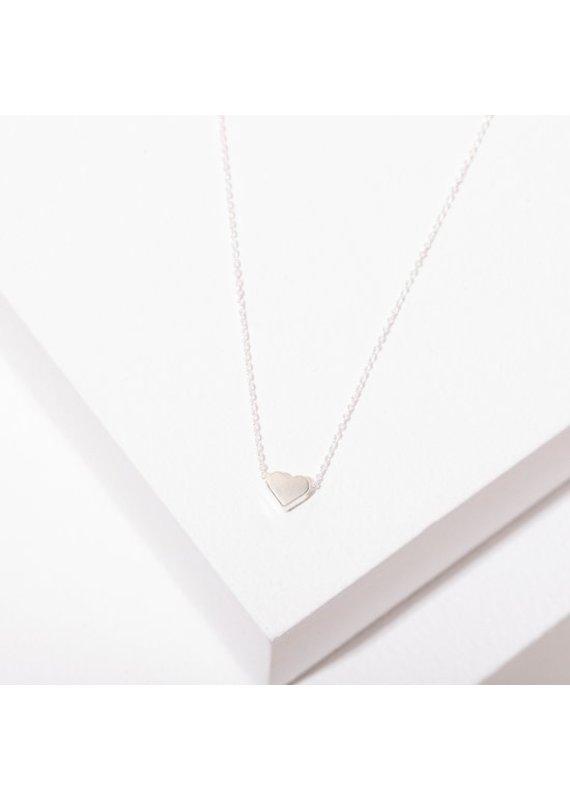 Larissa Loden Rhodium Plated Heart Necklace