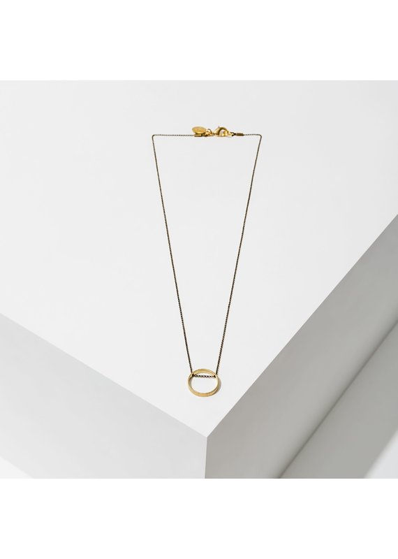 Larissa Loden Circle Horizon Necklace Brass