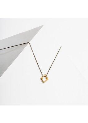 Larissa Loden Polymath Necklace Open Diamond Brass
