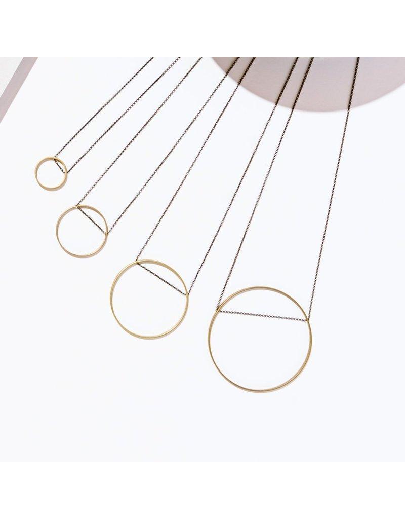 Larissa Loden Circle Horizon Necklace Brass