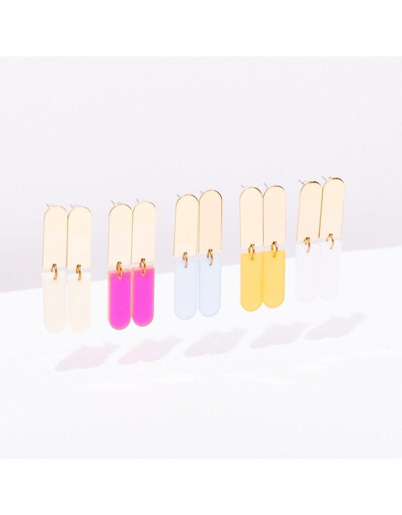 Larissa Loden Ali Earrings in Color White