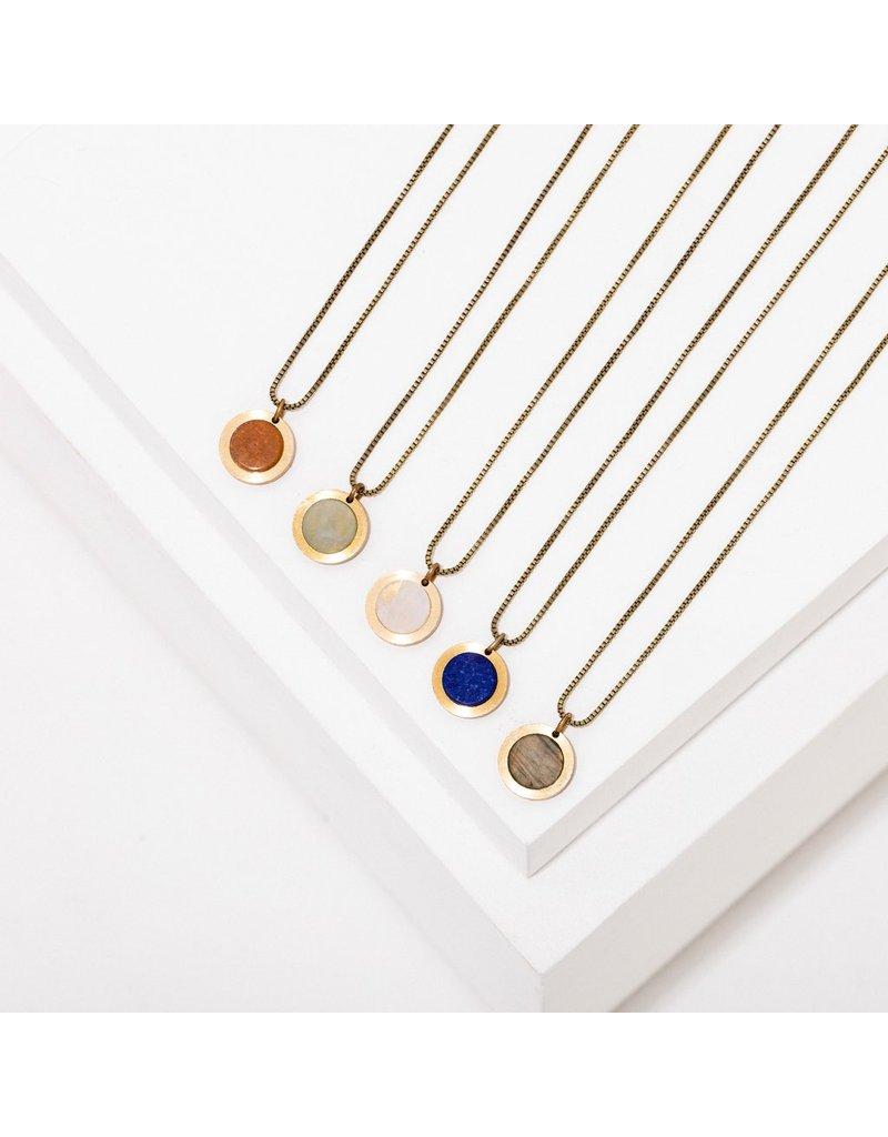 Larissa Loden Brene Necklace Sunstone
