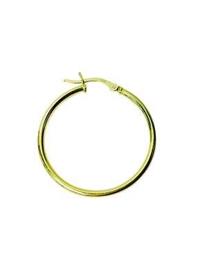 Modern Opus Sterling Gold Plated Hoop