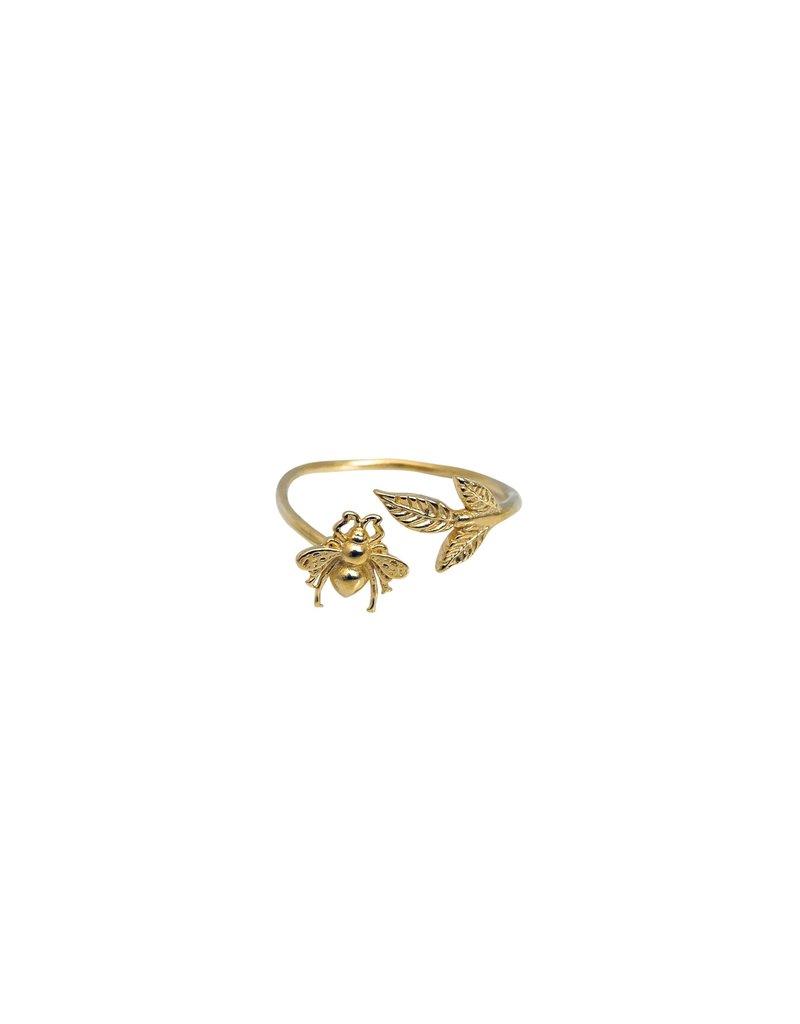 Modern Opus Brass Bee Ring