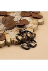 Sea Lily Large Diamond Black Wire Rings Bracelet