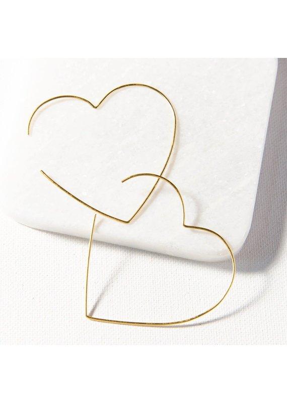 Ink + Alloy Heart Wire Hoop Earring