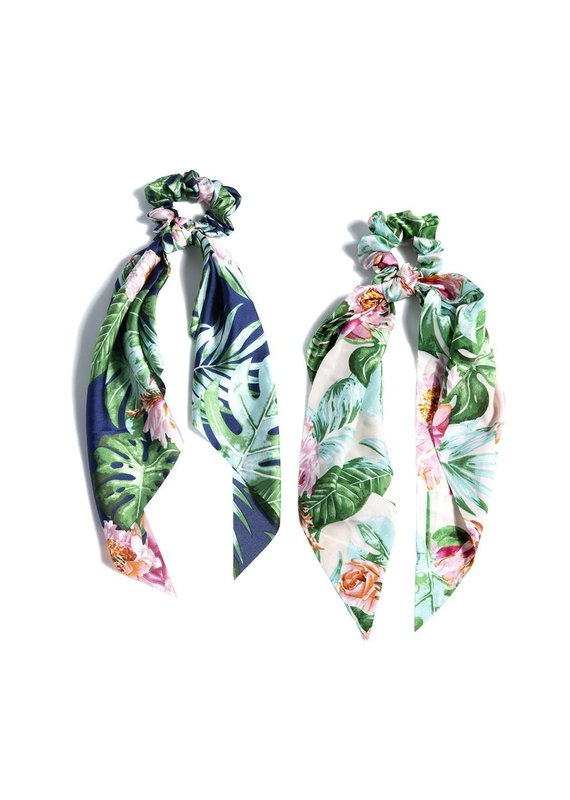 Shiraleah Tropical Scarf Pony Navy