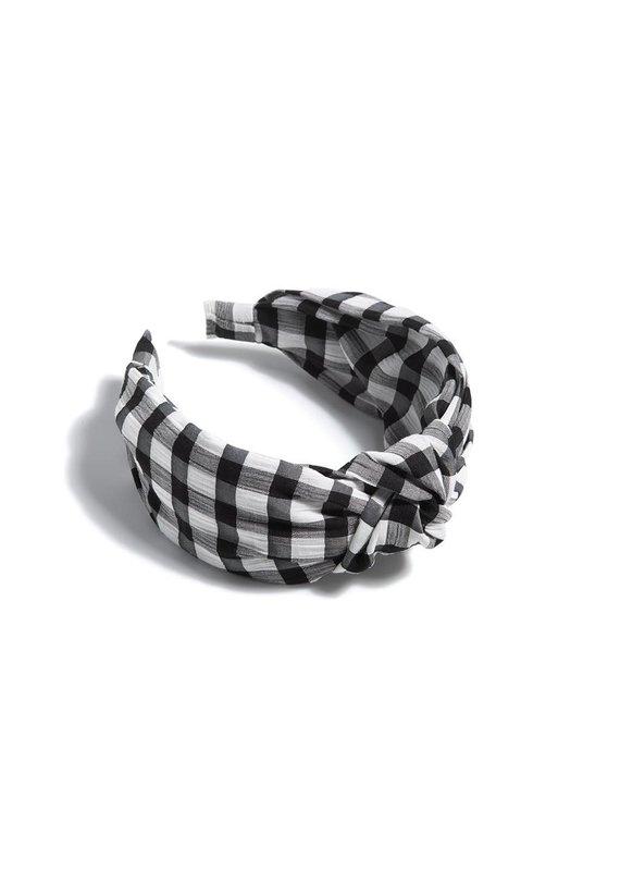 Shiraleah Black Knotted Gingham Plaid Headband