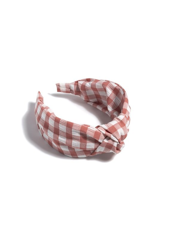 Shiraleah Rose Knotted Gingham Plaid Headband
