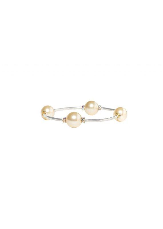 Made as Intended Light Gold Pearl Large Blessing Bracelet