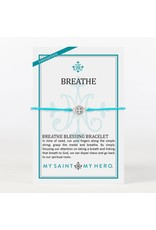My Saint My Hero Turquoise & Silver Breath Blessing Bracelet