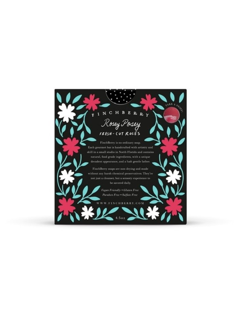 FinchBerry Rosey Posey Boxed Soap