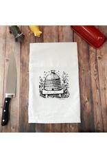 Green Bee Tea Towels Bee Hive Tea Towel