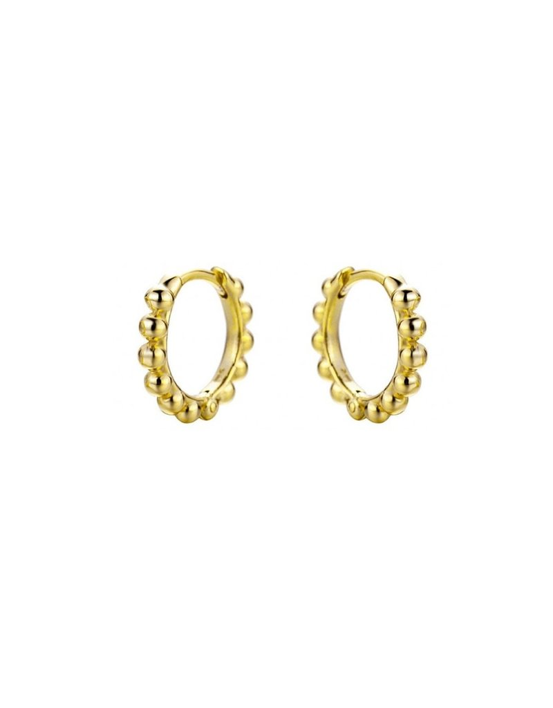 Modern Opus Gold Plated Dot Huggies