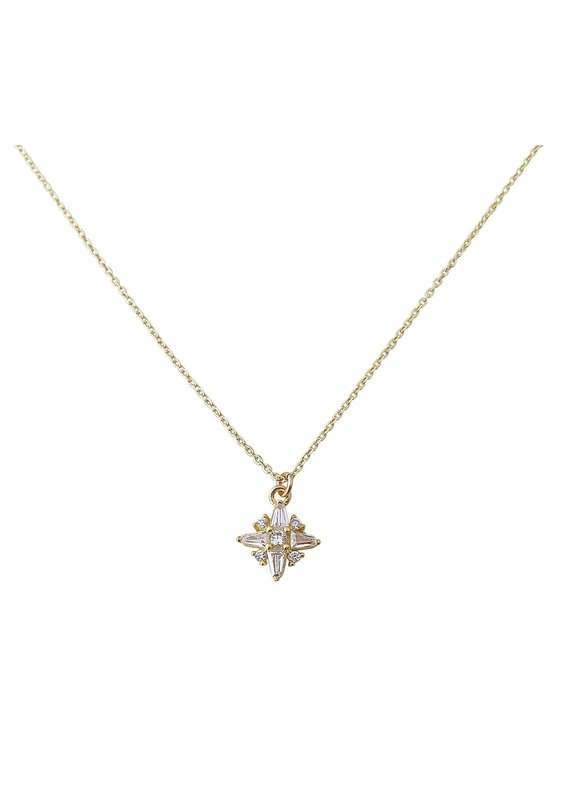 Modern Opus Baguette Star Necklace