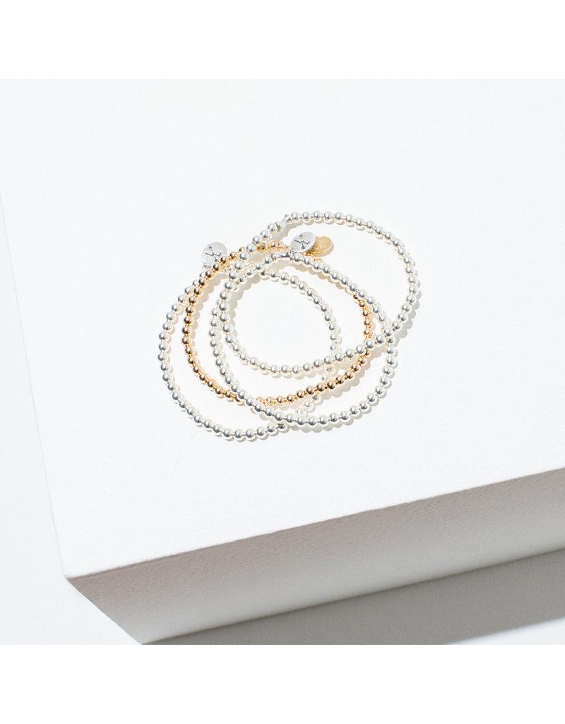Larissa Loden Sterling Single Beaded Bracelet