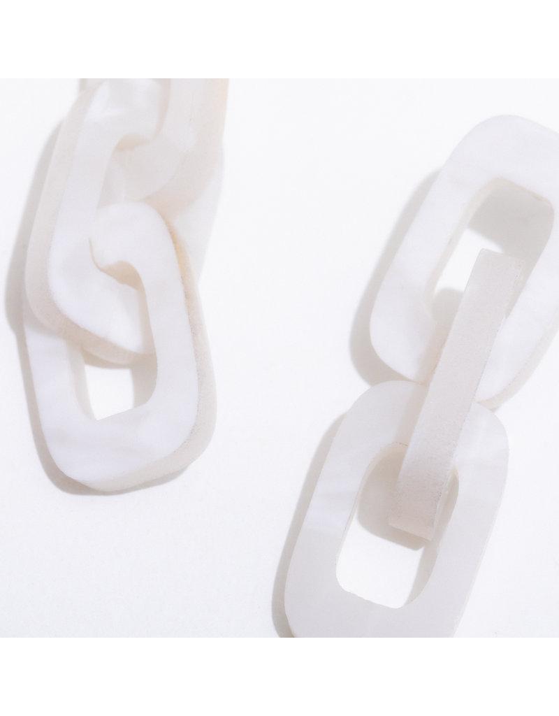 Larissa Loden Ocasio Earrings White
