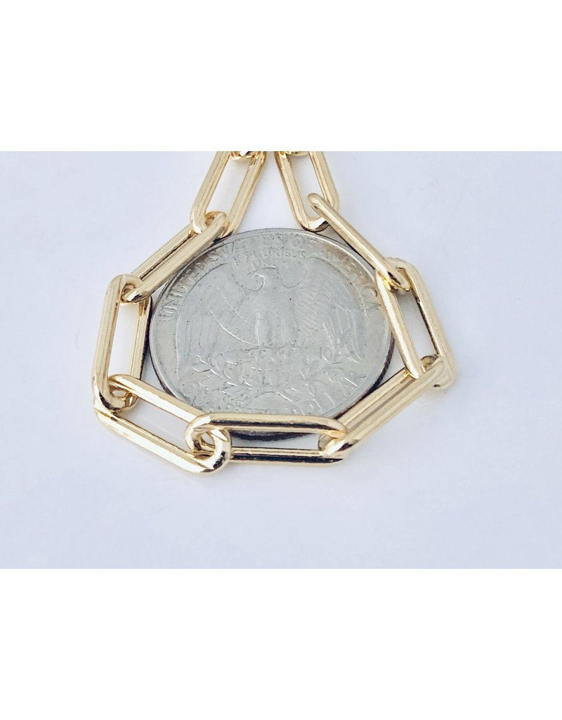 "Modern Opus 18k Gold-Filled 14"" Medium Clip Chain"