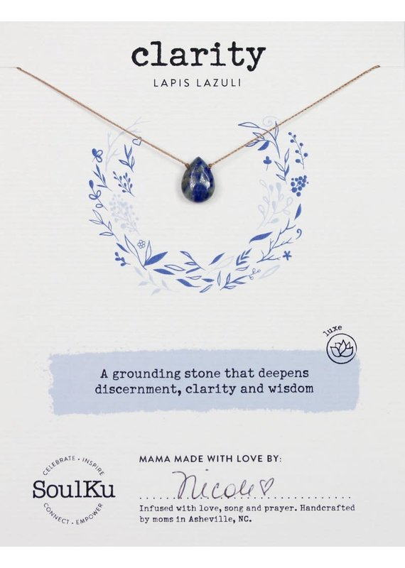 SoulKu Lapis Luxe Clarity Necklace