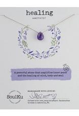 SoulKu Amethyst Luxe Healing Necklace