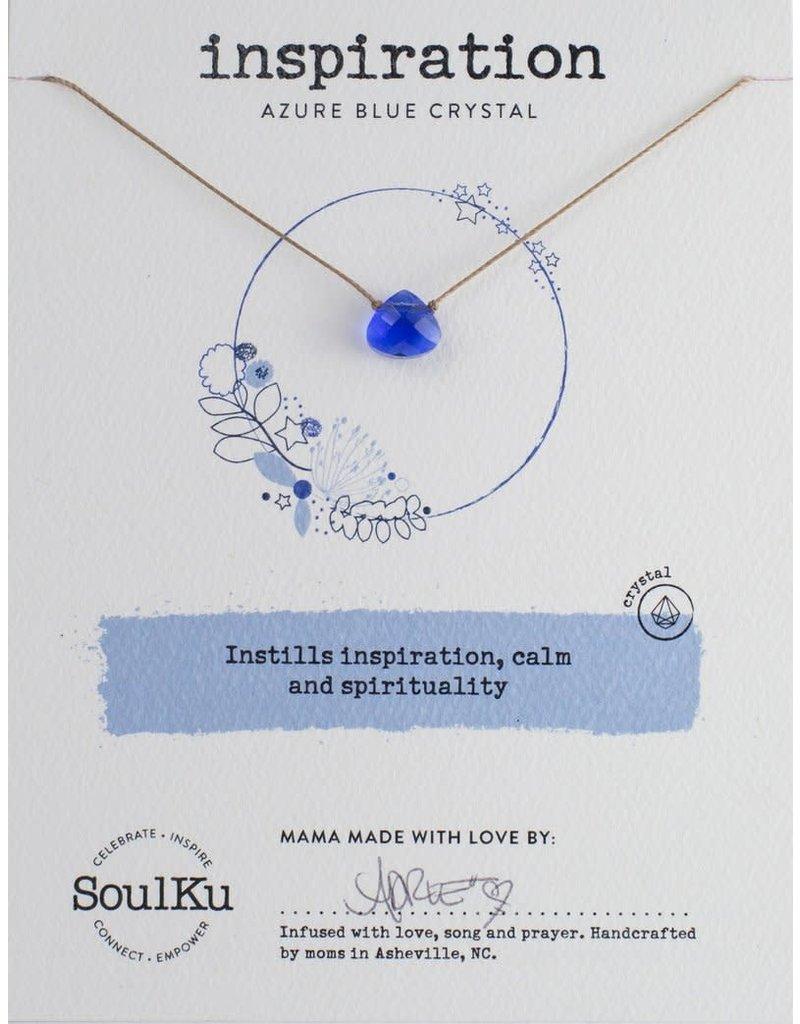 SoulKu Azure Blue Crystal Soul Shine Inspiration Necklace