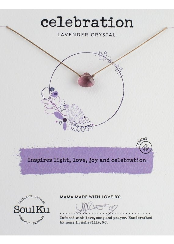 SoulKu Lavender Crystal Soul Shine Celebration Necklace