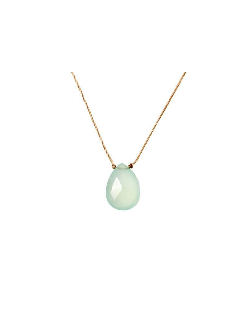 SoulKu Chalcedony Luxe Happy Birthday Necklace