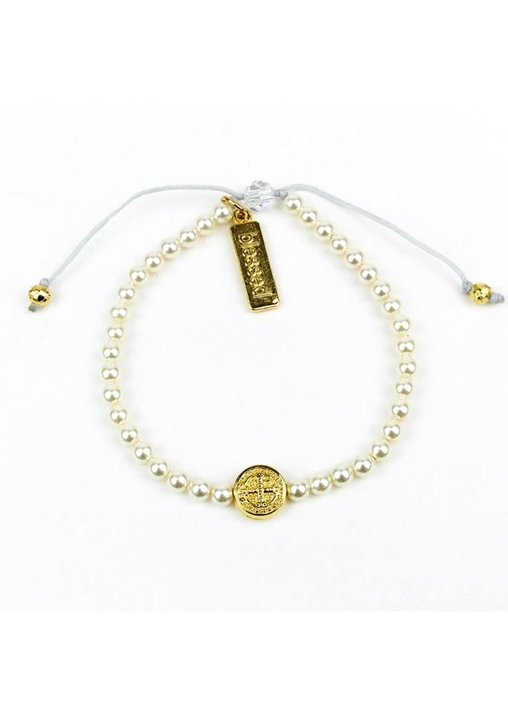 My Saint My Hero Pearl Birthday Blessing Bracelets