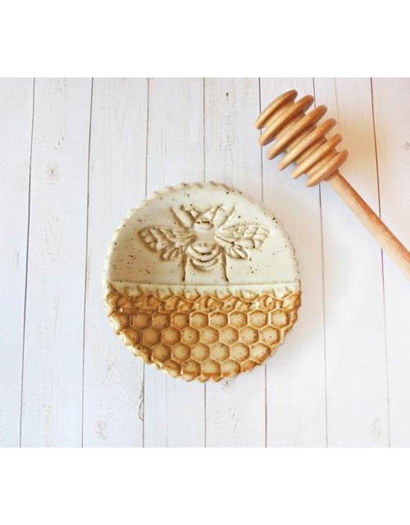 Barbarah Robertson Bee & Honeycomb Pottery Dish