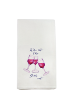 French Graffiti Who Let the Girls Out Dishtowel