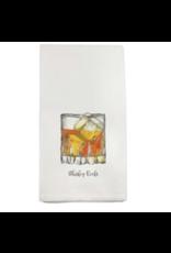 French Graffiti Whiskey Rocks Dishtowel
