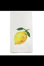French Graffiti Two Lemons Dishtowel