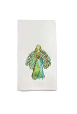French Graffiti Colorful Angel Dishtowel