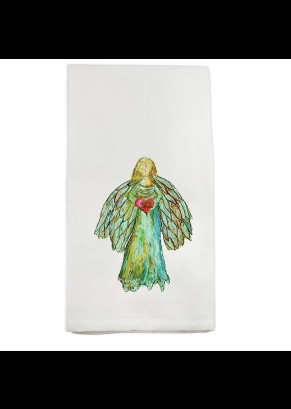 French Graffiti Colorful Angel Dishtowel