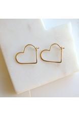 Linda Trent 14K Gold Fill Small Heart Hoops